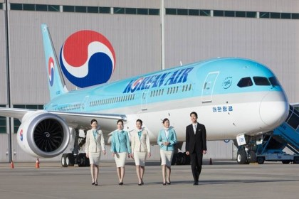 Korean Air unveils its first Boeing 787-9 Dreamliner