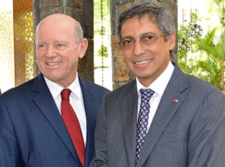 Xavier-Luc Duval of Mauritius endorses Alain St.Ange as Secretary General of UNWTO