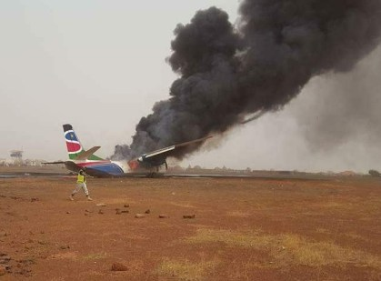 Passenger plane crashes in South Sudan