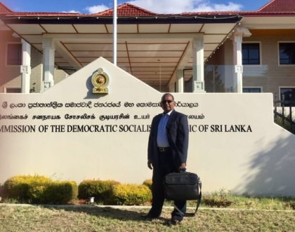 eTN ambassador flies Sri Lankan flag high in Canberra