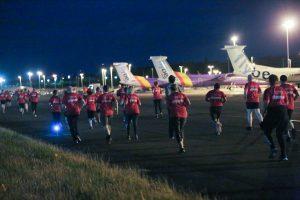 Runners break record on the tarmac in Belfast