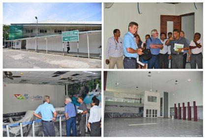Civil Aviation Minister inspects progress of new domestic passenger terminal at Seychelles International Airport