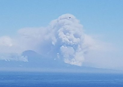 The end is near? 'Ghoulish skull' appears in smoke billowing from Mount Vesuvius