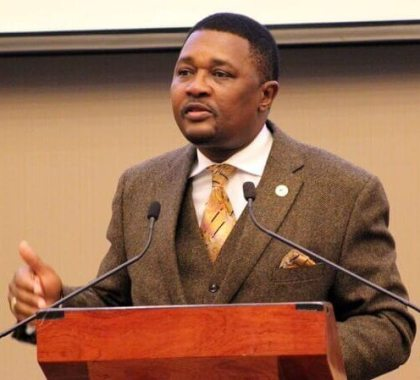 Dr. Mzembi delivers speech at farewell party of former Secretary for Tourism Florence Nhekairo