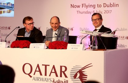 Qatar Airways celebrates official launch direct daily route to Dublin