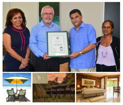 Another certified green hotel for Praslin: Acajou Beach Resort