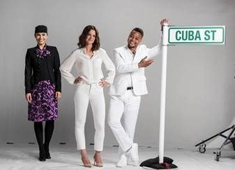 Katie Holmes and Cuba Gooding Jr. team up for Air New Zealand's safety video