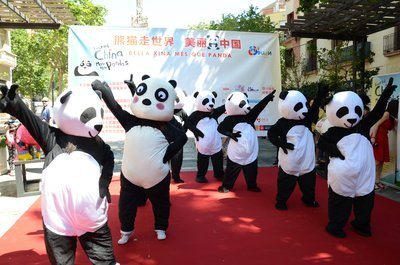 "Pandas abound on streets of Mediterranean cities on heels of tourism campaign ""Beautiful China, More than Pandas"""