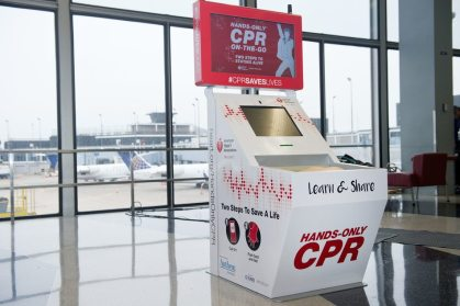 Three US airports to unveil American Heart Association Hands-Only CPR training kiosks