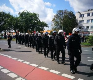 Neo-Nazis and anti-Nazi counterprotesters march in Berlin, police on standby