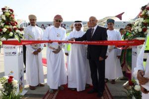 First Qatar Airways nonstop Doha-Sohar flight touches down at Sohar Airport