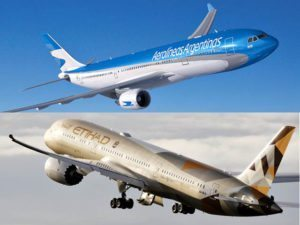 Aerolíneas Argentinas and Etihad Airways sign codeshare agreement
