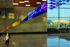 "Art showing ""Who We Are"" installed at Minneapolis Airport"