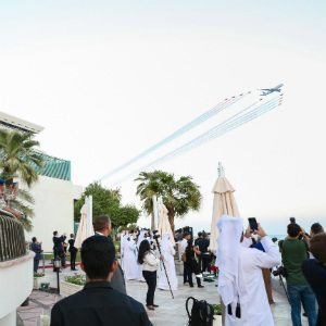 Qatar Airways celebrates its 20th anniversary with thrilling air display over Doha
