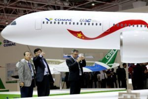 Boeing and Airbus worried about a Russia and Chinese joint venture Comac and a 330 seat passenger aircraft