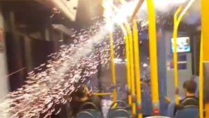"""Idiotic youths"": Firework fired into crowded London double-decker bus"