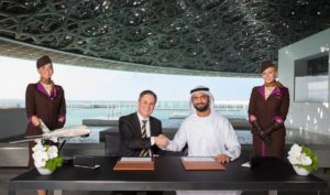 Etihad Airways and Louvre Abu Dhabi landmark partnership signed