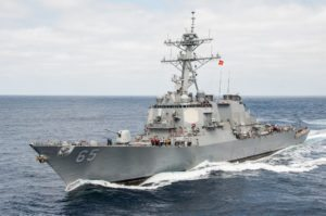 US Navy destroyer collides with Japanese tugboat –  fifth such incident this year