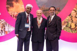 IIPT India VP Kiran Yadav and President Ajay Prakash with Lou D'Amore Founder President IIPT