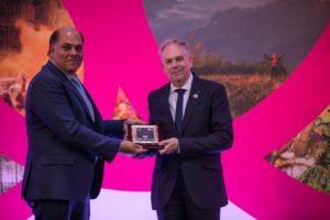 Mario Hardy Ambassador of Peace with Peter Kerkar
