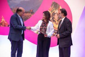 Ambassador of Peace HRH Princess Dana Firas with Peter Kerkar and Ajay Prakash