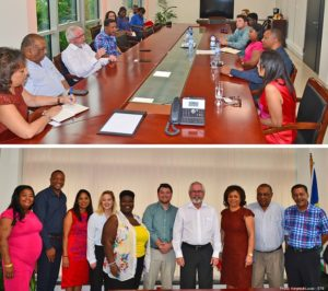 Seychelles Tourism Minister meets regarding hospitality exchange program
