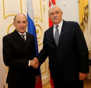 Qatar Airways Group Chief Executive Akbar Al Baker meets Governor of St. Petersburg
