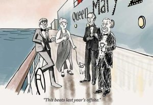 "Cunard Cruise Line and The New Yorker partner for ""Cartoonists at Sea"""