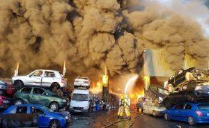 Enormous blaze threatens Dublin airport