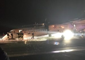 Warsaw's Chopin Airport shuts down after plane crash-lands on runway