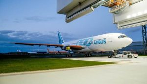 New Airbus A330-800 rolls out of paintshop