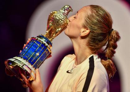 Qatar Airways and Qatar Duty Free congratulate Petra Kvitova on winning Total Open Women's 2018 Tournament