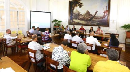 Tahiti Tourism meeting: Minister of Tourism for French Polynesia, Nicole Bouteau attended