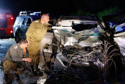 Palestinian terrorist kills two Israelis in car-ramming attack