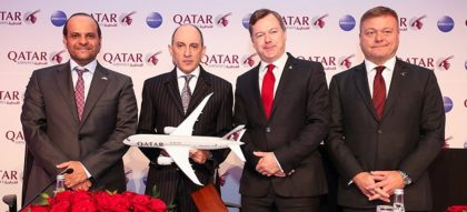 European campaign of Qatar Airways
