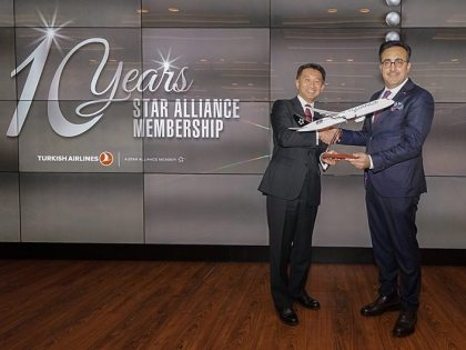 Turkish Airlines celebrates 10th anniversary of its Star Alliance membership