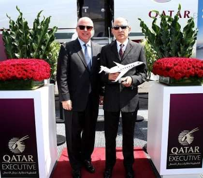 Qatar Executive unveils its new jet at Farnborough International Airshow