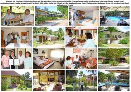 Seychelles Tourism Minister conducts first hotel visit on Praslin