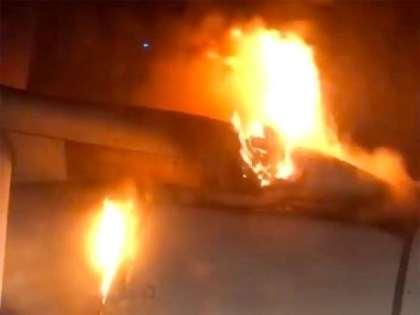 Horrified passengers watch plane's engine burn during emergency landing in Russia