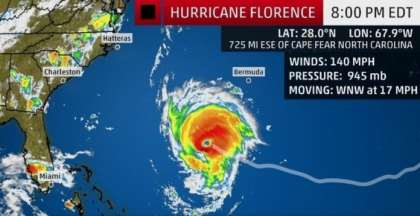 United Airlines update on Hurricane Florence