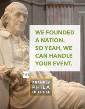 We founded a nation. So yeah, we can handle your event.