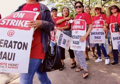 Unfair labor practice charge filed against Sheraton Maui for banning its employees