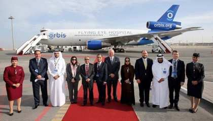 Qatar Airways hosts tours on board the Orbis Flying Eye Hospital in Doha