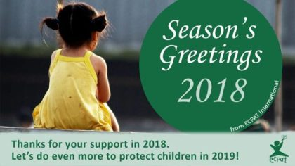 Sexual Exploitation of Children through tourism:  ECPAT has a message for the holidays