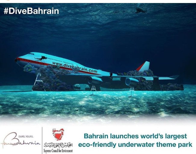 Dive into a Boeing 747: World's largest eco-friendly underwater theme park in Bahrain
