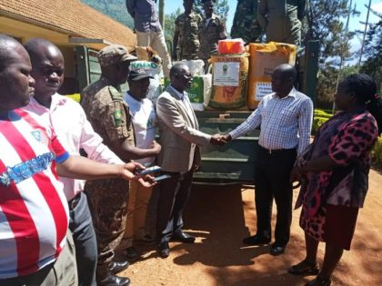 Uganda Wildlife Authority donates relief to victims of floods and landslides at Mt. Elgon