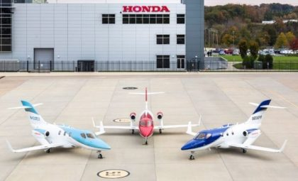 HondaJet most delivered aircraft in its class for second consecutive year