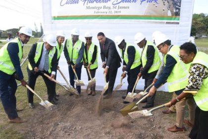 Jamaica  Prime Minister Andrew Holness breaks ground for Closed Harbour Beach Park