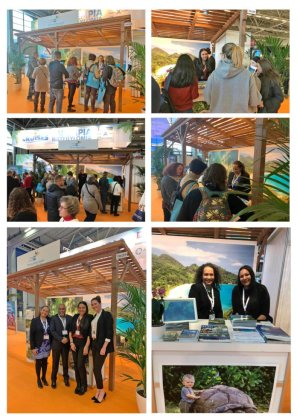 The Seychelles Islands displayed at the MATKA Nordic Travel Fair 2019