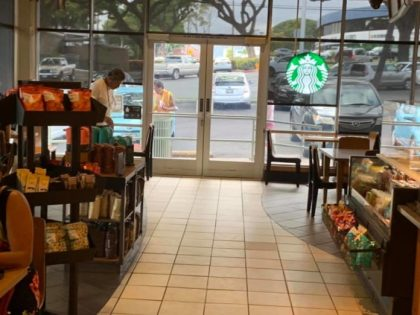 Starbucks Hawaii: Rotten food from the garbage and warm left over coffee